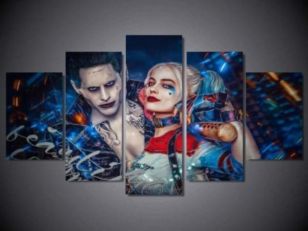 SUICIDE SQUAD HARLEY QUINN WALL ART CANVAS PRINT PICTURE VARIETY OF SIZES