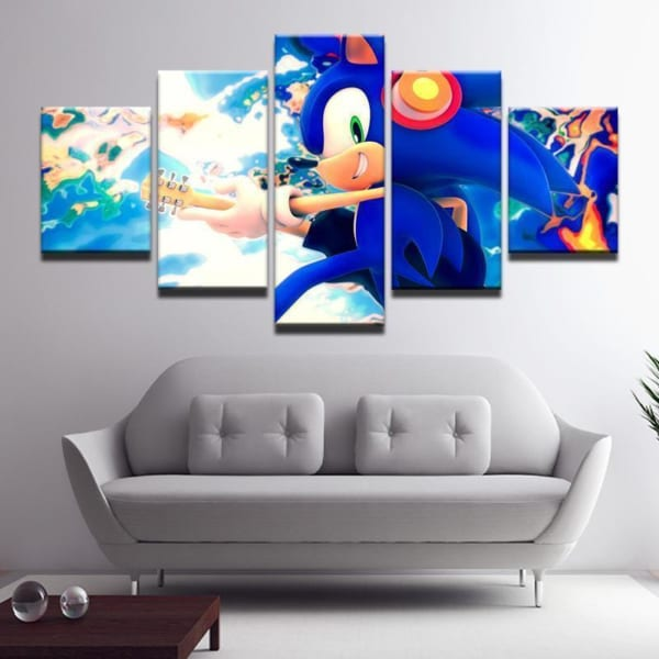 Sonic The Hedgehog 2 Anime Canvas Wall Art Canvas In House