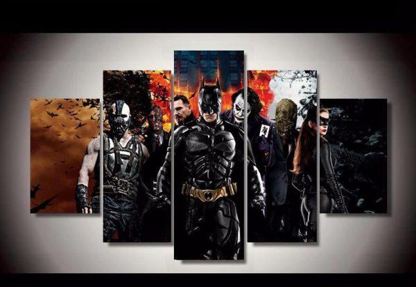 DARK KNIGHT Characters Canvas Wall Art Framed Print Various Sizes BATMAN