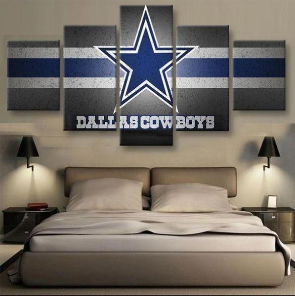 Dallas Cowboys Logo Football Canvas