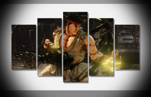 Street Fighter Muscle Ryu Poster Gaming Canvas Wall Art Canvas