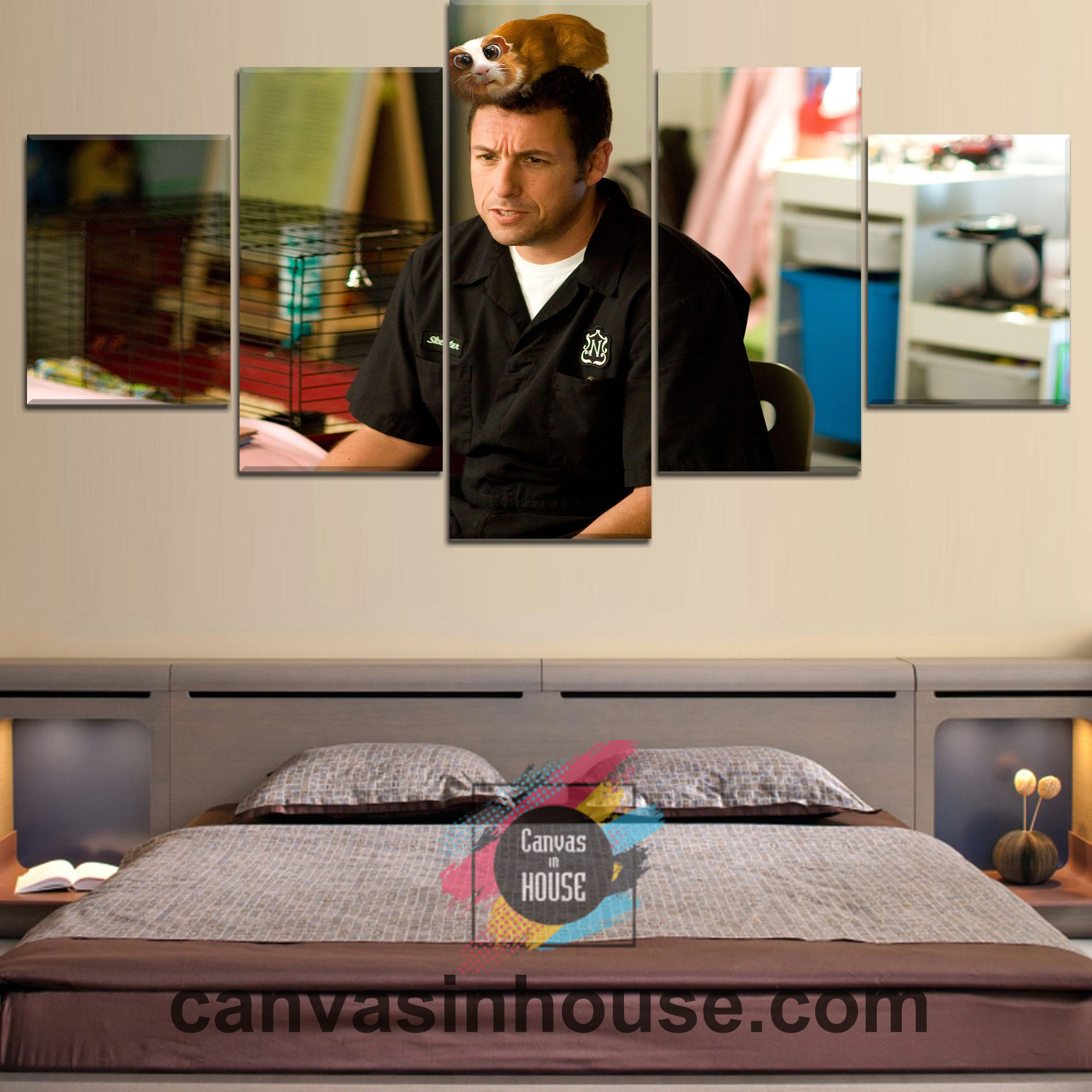 Adam Sandler Explaining Celebrity 5 Pieces Canvas Wall Art ...