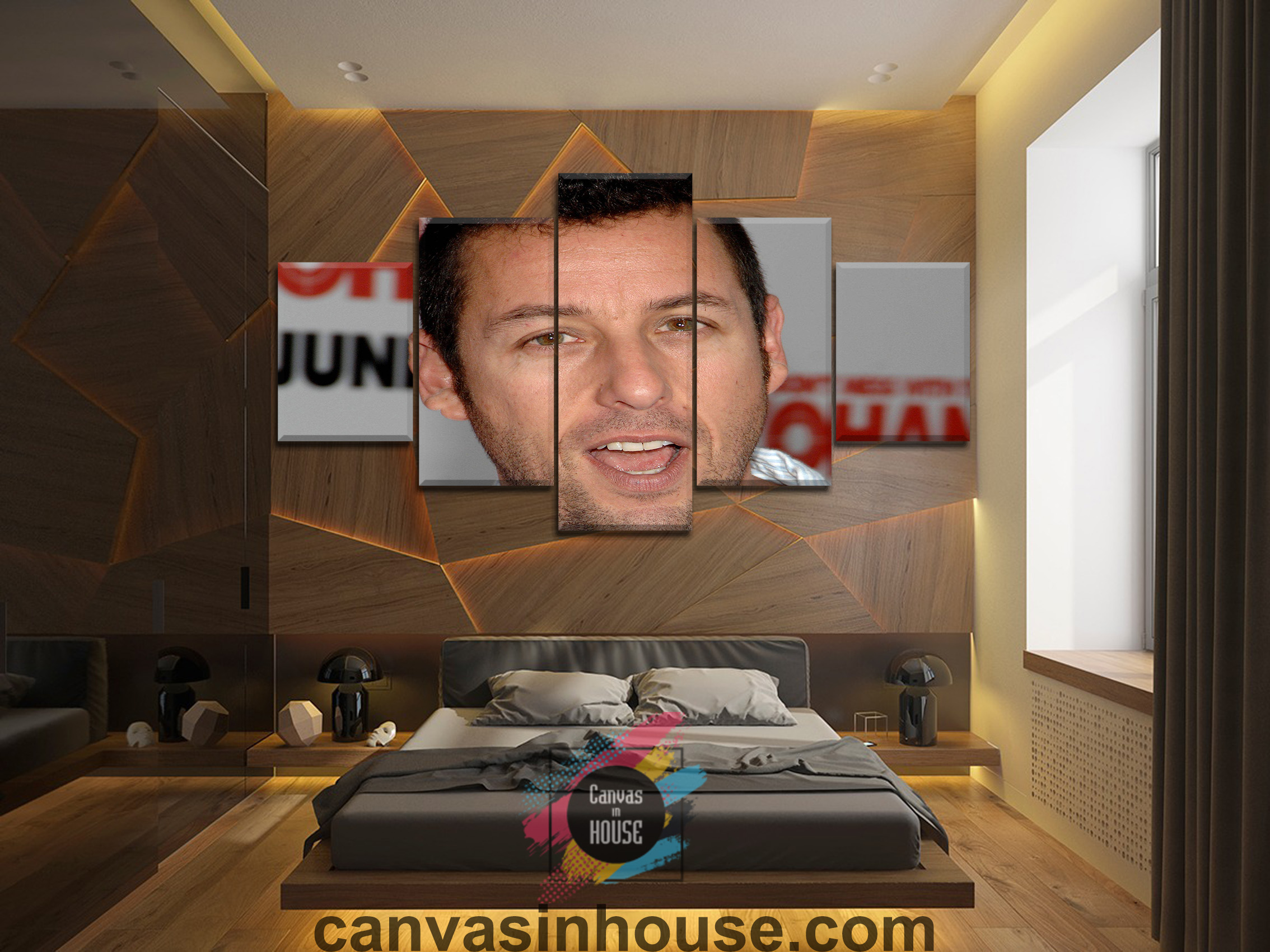 Adam Sandler Smile 10 Celebrity 5 Pieces Canvas Wall Art ...