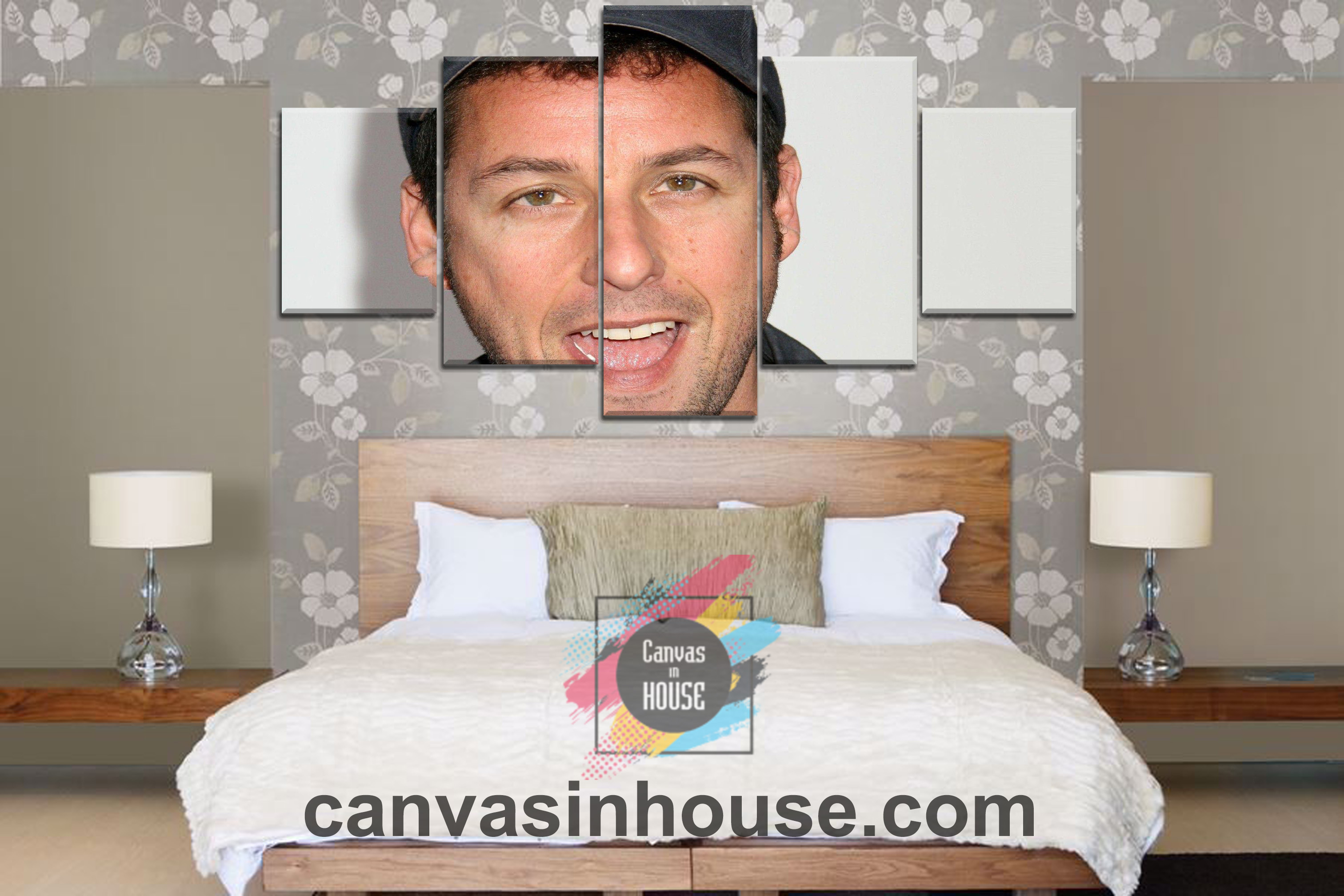 Adam Sandler Smile 9 Celebrity 5 Pieces Canvas Wall Art ...