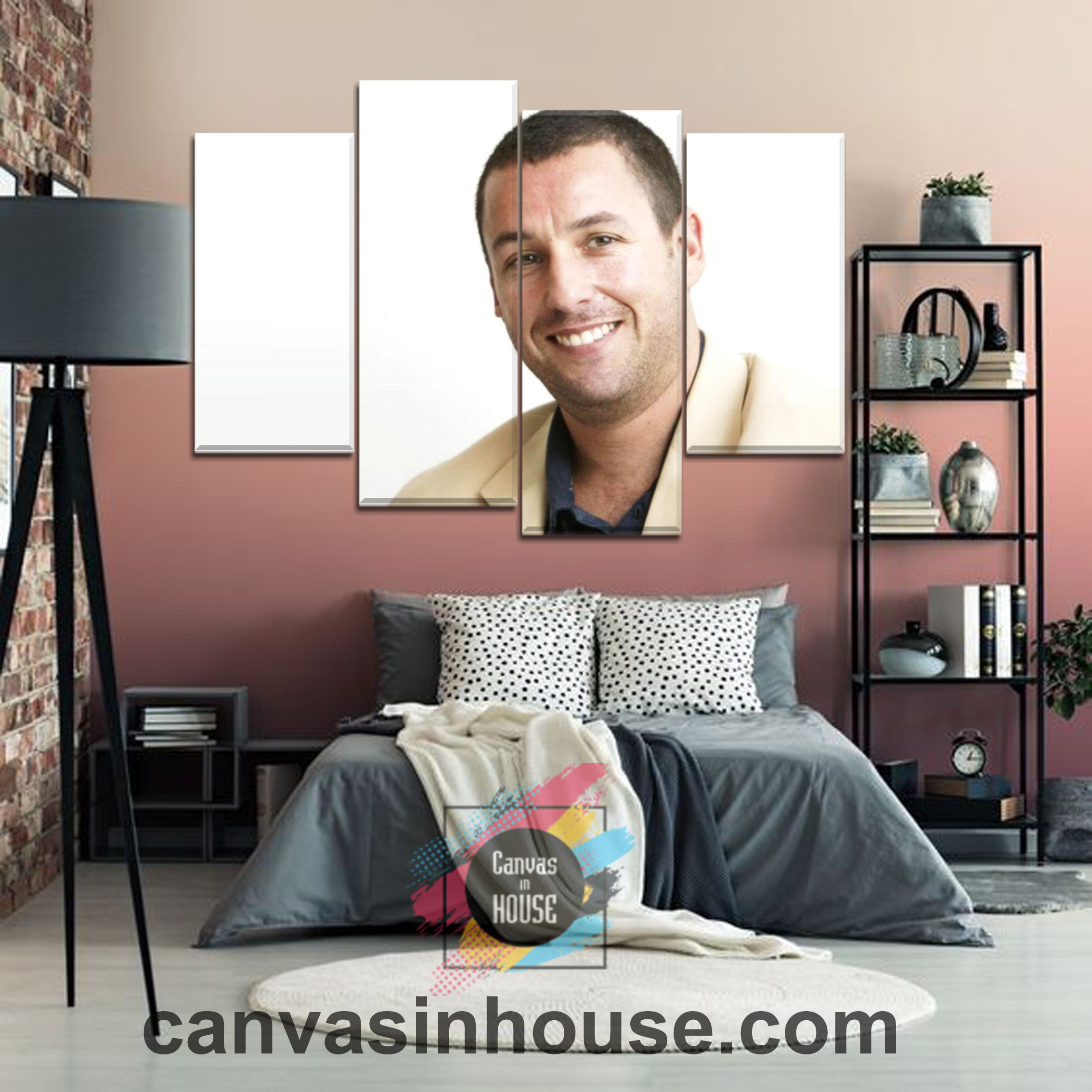 Adam Sandler Smile 2 Celebrity 4 Pieces Canvas Wall Art ...