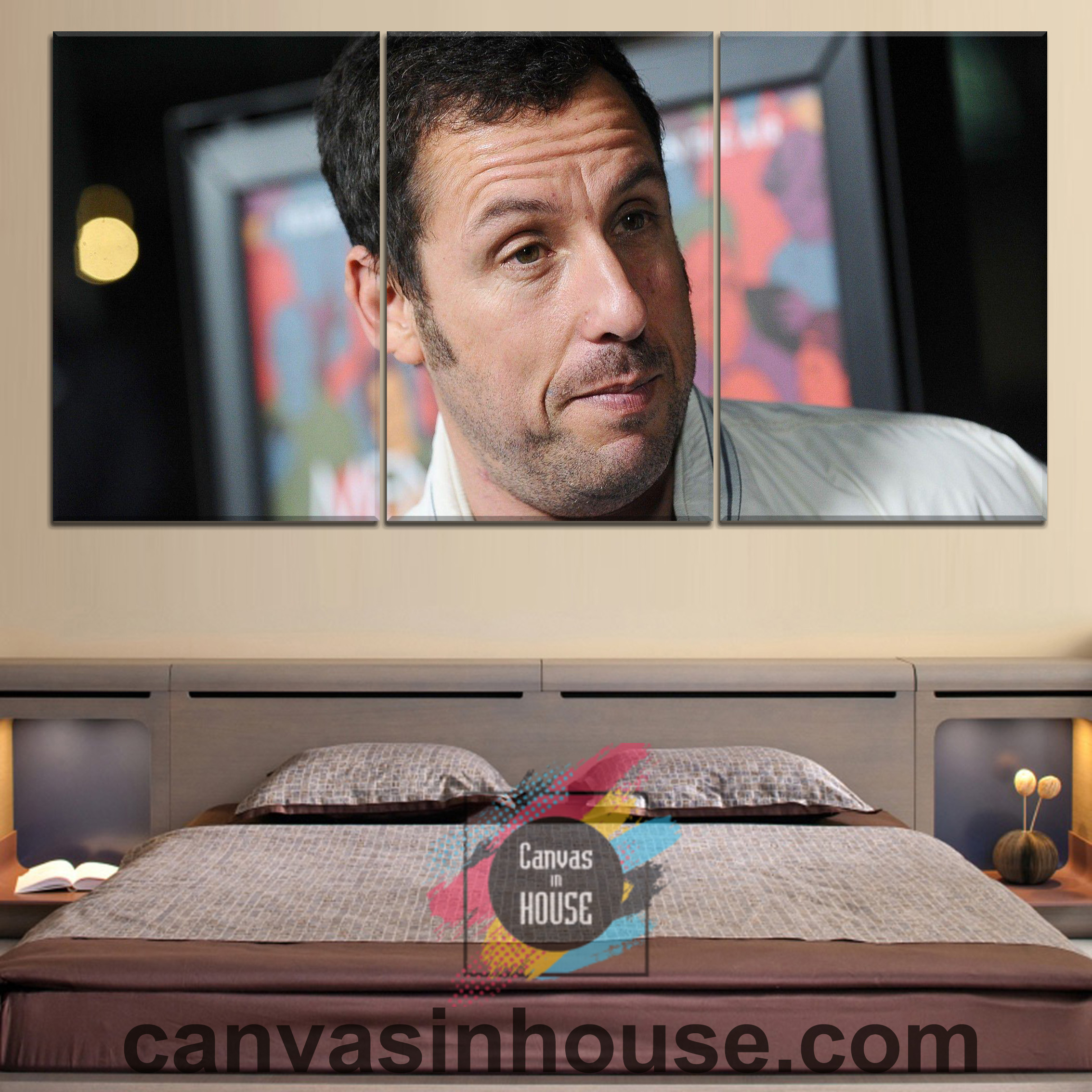 Adam Sandler 1 Celebrity 3 Pieces Canvas Wall Art – Canvas ...